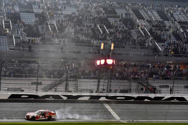 2017 Xfinity - Powershares QQQ 300 Daytona International Speedway, Daytona Beach, FL USA Saturday 25 February 2017 Ryan Reed celebrates his win with a burnout World Copyright: Nigel Kinrade/LAT Images ref: Digital Image _DSC6957