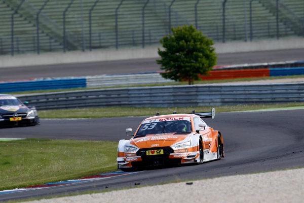 2017 DTM Round 2 Lausitzring, Germany. Sunday 21 May 2017. Jamie Green, Audi Sport Team Rosberg, Audi RS 5 DTM World Copyright: Alexander Trienitz/LAT Images ref: Digital Image 2017-DTM-R2-ESL-AT1-4485