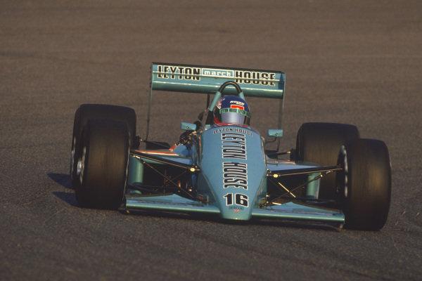1987 Japanese Grand Prix  Suzuka, Japan. 29th October - 1st November 1987.  Ivan Capelli, March 871 Ford, retired.  Ref: 87JAP04. World Copyright: LAT Photographic