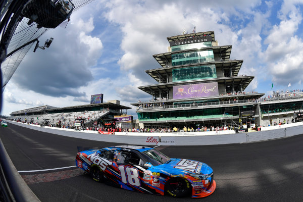 22-23 July, 2016, Indianapolis, Indiana USA Kyle Busch, NOS Energy Drink Toyota Camry takes the white flag ?2016, Logan Whitton  LAT Photo USA