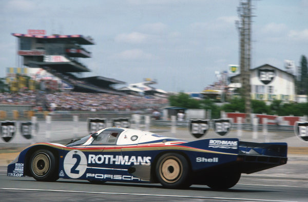 1982 Le Mans 24 Hours. Le Mans, France. 19th - 20th June 1982. Jochen Mass/Vern Schuppan (Porsche 956), 2nd position, action.   World Copyright: LAT Photographic. Ref: 82LM05.