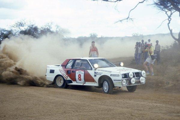 1986 World Rally Championship.Safari Rally, Kenya. 29 March -2 April 1986.Erwin Weber/Gunther Wanger (Toyota Celica TCT), 4th position.World Copyright: LAT PhotographicRef: 35mm transparency 86RALLY17