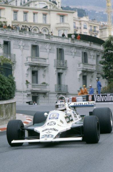 1980 Monaco Grand Prix.Monte Carlo, Monaco. 15-18 May 1980.Carlos Reutemann (Williams FW07B-Ford Cosworth), 1st position.World Copyright: LAT PhotographicRef: 35mm transparency 80MON14