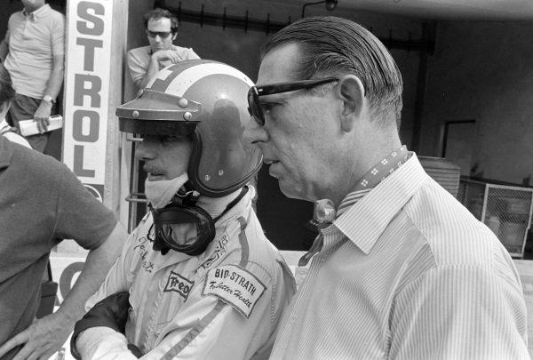 Jo Siffert and team boss Rob Walker.