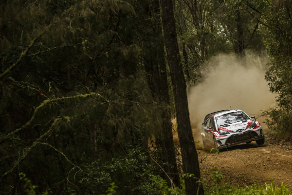 Jari-Matti Latvala (FIN) / Miikka Anttila (FIN), Toyota Gazoo Racing Toyota Yaris WRC at World Rally Championship, Rd13, Rally Australia, Day Two, Coffs Harbour, New South Wales, Australia, 18 November 2017.