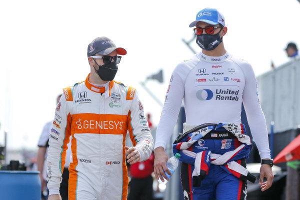 #15: Graham Rahal, Rahal Letterman Lanigan Racing Honda #29: James Hinchcliffe, Andretti Steinbrenner Autosport Honda