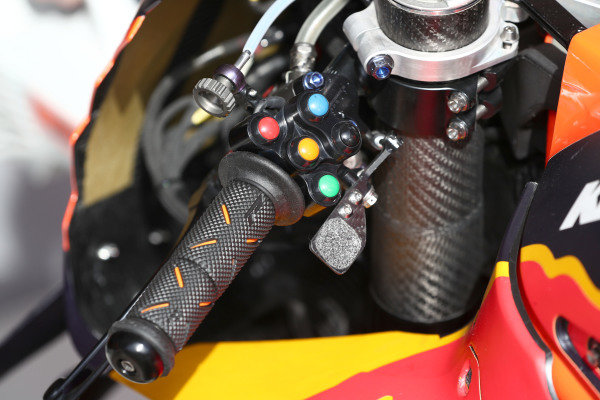 Handlebar switches of Red Bull KTM Factory Racing Bike.