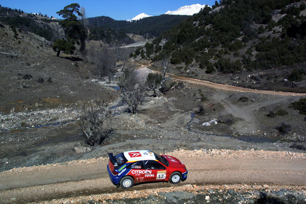 2003 FIA World Rally Championship. Kemer, Turkey. Rd3.26/2-2/3 2003.Colin McRae/Derek Ringer (Citroen Xsara) 4th position. World Copyright: McKlein/LAT Photographic