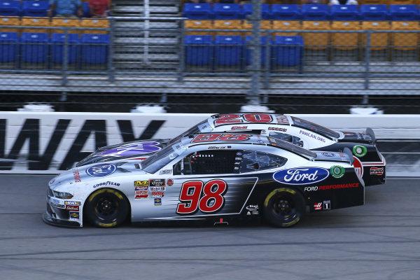 #98: Chase Briscoe, Stewart-Haas Racing, Ford Mustang Ford Performance and #20: Christopher Bell, Joe Gibbs Racing, Toyota Supra Rheem