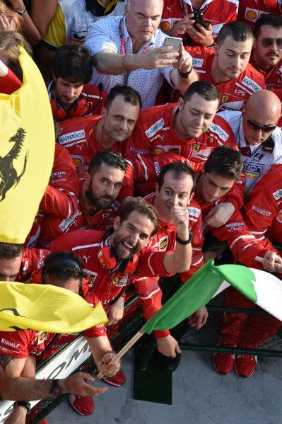 Ferrari celebrate at Formula One World Championship, Rd1, Australian Grand Prix, Race, Albert Park, Melbourne, Australia, Sunday 26 March 2017.