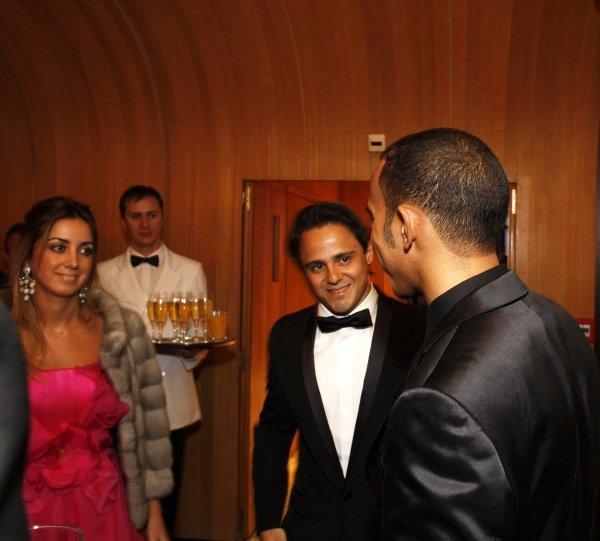 Felipe Massa (BRA) talks with Lewis Hamilton (GBR). FIA Gala Awards Ceremony, Monte Carlo, Monaco, 12 December 2008.