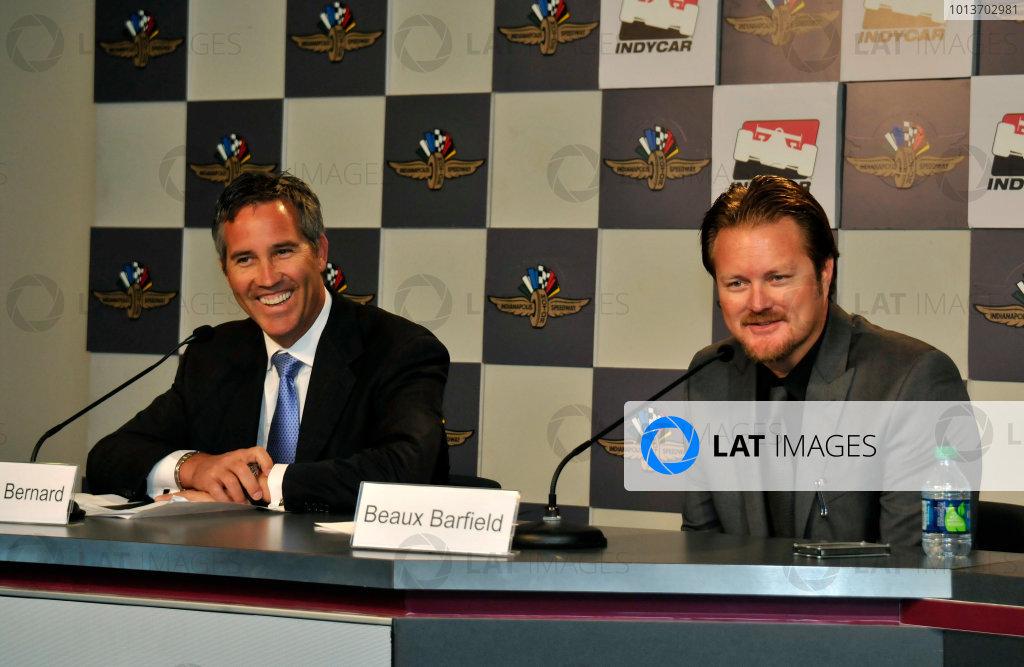 4 January, 2012, Indianapolis, Indiana, USABeaux Barfield Press Conference(c)2012, Walt KuhnLAT Photo USA