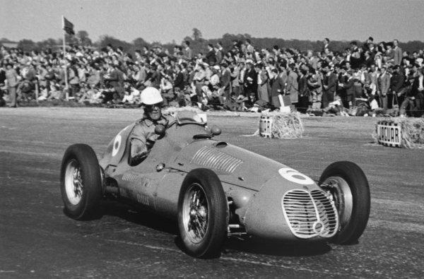 1950 British Grand Prix.Silverstone, Great Britain. 13 May 1950.David Hampshire (Maserati 4CLT/48). Ref-50/14 #33.World Copyright - LAT Photographic