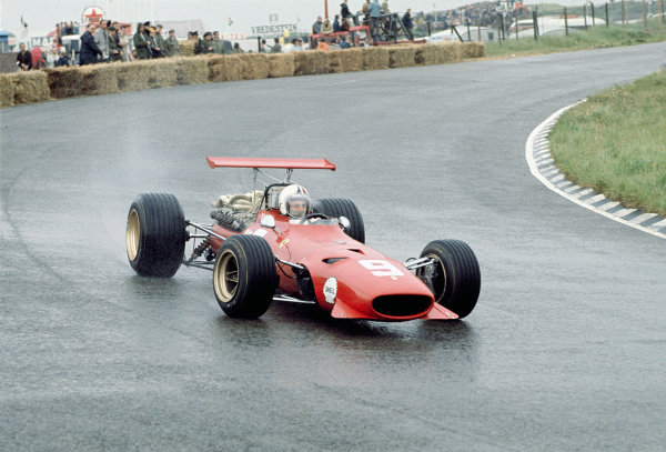 1968 Dutch Grand Prix.Zandvoort, Holland.21-23 June 1968.Chris Amon (Ferrari 312) 6th position.Ref-68 HOL 21.World Copyright - LAT Photographic