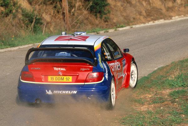 2003 World Rally ChampionshipTour De Corsica. 15th - 19th October 2003.Carlos Sainz/Marc Marti (Citroen Xsara WRC),actionWorld Copyright: McKlien/ LAT Photographicref: 35mm Corsica 10