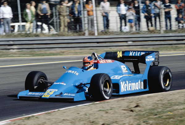 1984 Belgian Grand Prix.Zolder, Belgium.27-29 April 1984.Piercarlo Ghinzani (Osella FA1F Alfa Romeo).Ref-84 BEL 33.World Copyright - LAT Photographic