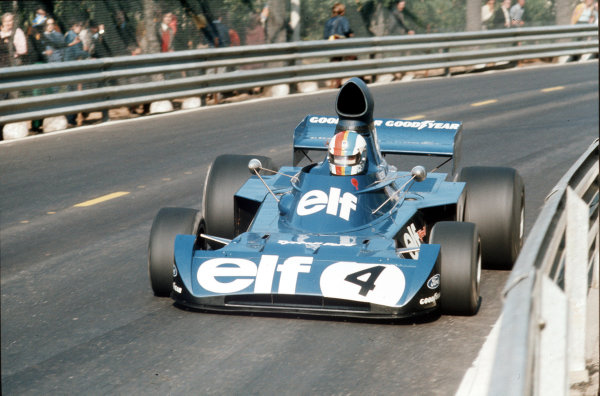 Montjuich Park, Barcelona, Spain.27-29 April 1973.Francois Cevert (Tyrrell 006 Ford) 2nd position.Ref-35mm.World Copyright - LAT Photographic
