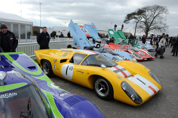 2016 74th Members Meeting Goodwood Estate, West Sussex,England 19th - 20th March 2016 GP5 Sports Cars Demo Lola T70 GT Mk 3B Mike Smith World Copyright : Jeff Bloxham/LAT Photographic Ref : Digital Image