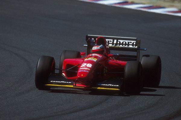 Tanaka International, Aida, Japan.15-17 April 1994.Gerhard Berger (Ferrari 412T1) 2nd position.Ref-94 PAC 23.World Copyright - LAT Photographic