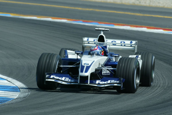 2003 German Grand Prix - Sunday Race, Hockenheim, Germany.3rd August 2003.Juan-Pablo Montoya, BMW Williams FW24, action.World Copyright LAT Photographic.Digital Image Only.