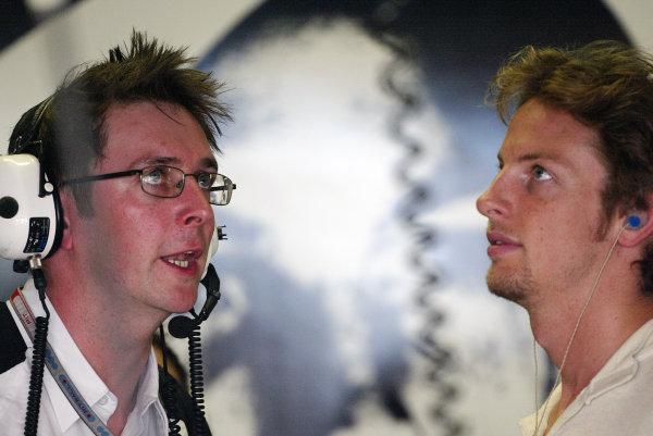 2004 German Grand Prix - Friday Practice,Hockenheim, Germany. 23rd July 2004 Jenson Button, BAR Honda 006, portrait.World Copyright: Steve Etherington/LAT Photographic ref: Digital Image Only