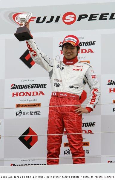 2007 All - Japan F3 Championship.Fuji Speedway. Fuji.30th March - 1st April 2007.Podium. World Copyright: Yasushi Ishihara/LAT Photographicref: Digital Image Only.