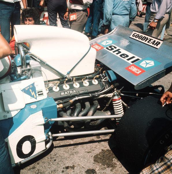 Zandvoort, Holland.18-20 June 1971.The Matra MS12 V12 engine in the Matra-Simca MS120B of Chris Amon.Ref-3/4774B.World Copyright - LAT Photographic