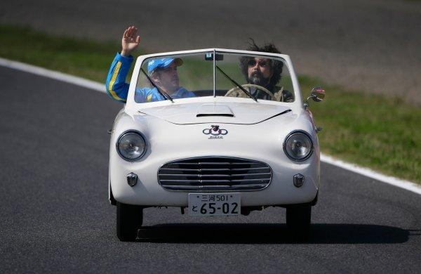 2006 Japanese Grand Prix - Sunday Race,  Suzuka, Japan. Fernando Alonso, drivers parade, portrait. 8th October 2006  World Copyright: Steve Etherington/LAT Photographic  ref: 48mb Hi Res Digital Image Only