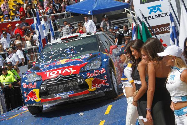 Round 2, Rally of Mexico, 3rd-6th March 2011Sebastein Loeb, Daniel Elena, Citroen DS3 WRC, Podium, WRC, Portrait, Worldwide Copyright: McKlein/LAT
