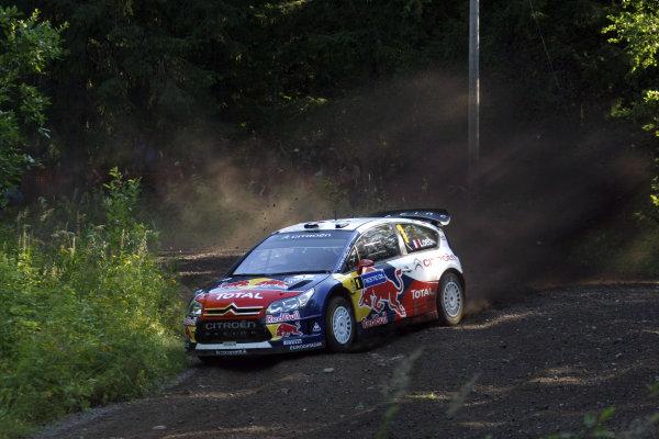 Round 09Rally Finland 39Juli-3 August  2009Sebastien Loeb, Citroen WRC, Action.Worldwide Copyright: McKlein/LAT