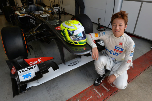 Kimiya Sato (JPN) Sauber C32. Formula One Young Drivers Test, Silverstone, England, Day Three, Friday 19 July 2013.