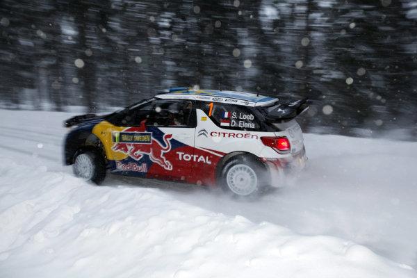 Round 01-Rally Sweden. 10th-13th February 2011.Sebastien Loeb, Citroen WRC, ActionWorldwide Copyright: McKlein/LAT