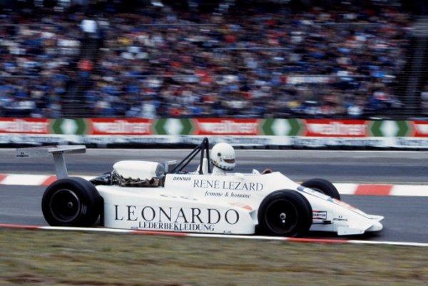 Christian Danner (GER) BS Automotive.European Formula 2 Championship, Rd3, XVIII Deutschland Trophae, Hockenheim, Germany, 8 April 1984.