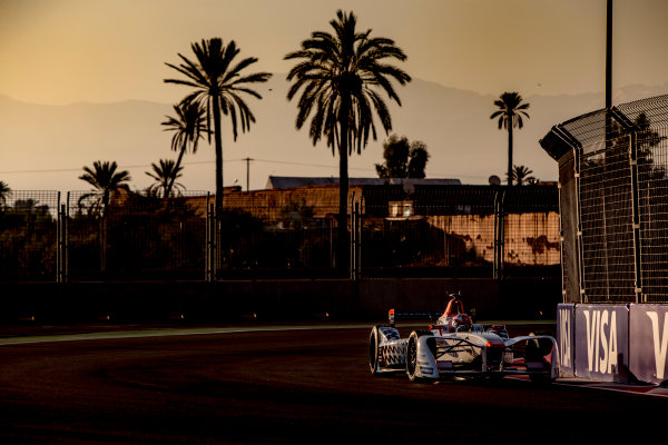 2016/2017 FIA Formula E Championship. Marrakesh ePrix, Circuit International Automobile Moulay El Hassan, Marrakesh, Morocco. Saturday 12 November 2016. Loic Duval (FRA), Dragon Racing, Spark-Penske, Penske 701-EV.  Photo: Zak Mauger/LAT/Formula E ref: Digital Image _X0W5280