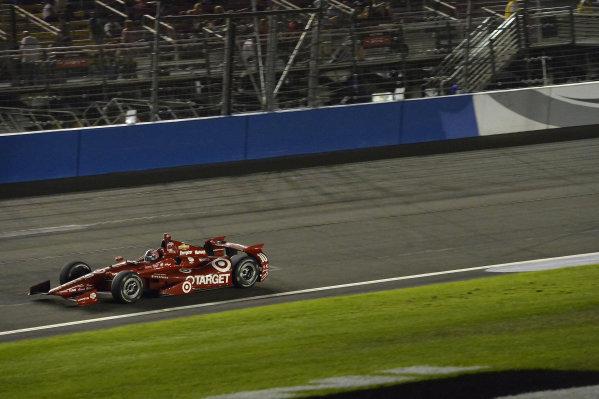 Race winner Tony Kanaan (BRA) Target Ganassi Racing.Verizon IndyCar Series, Rd18, MAVTV 500, Auto Club Speedway, Fontana, USA, 29-30 August 2014.