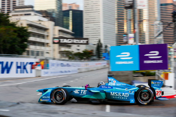 2017/2018 FIA Formula E Championship. Round 1 - Hong Kong, China. Saturday 02 December 2017. Kamui Kobayashi (JAP), MS + AD Andretti Formula E, Andretti ATEC-03. Photo: Sam Bloxham/LAT/Formula E ref: Digital Image _W6I5490