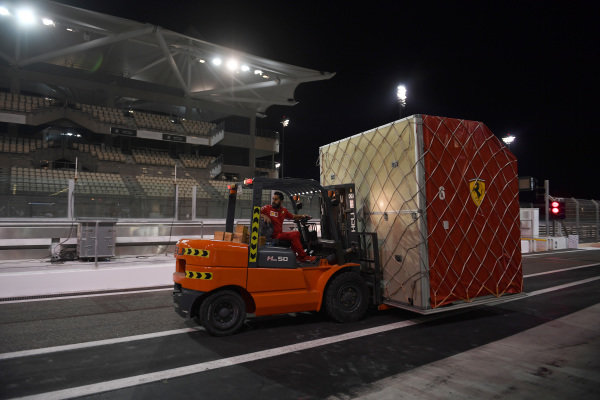 Forklift and Ferrari freight