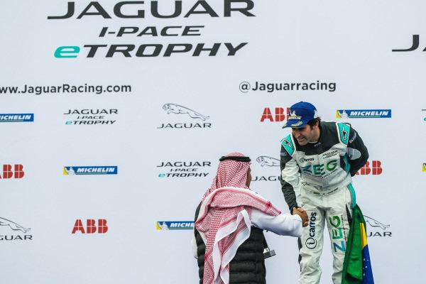 2nd position Sérgio Jimenez (BRA), Jaguar Brazil Racing on the podium