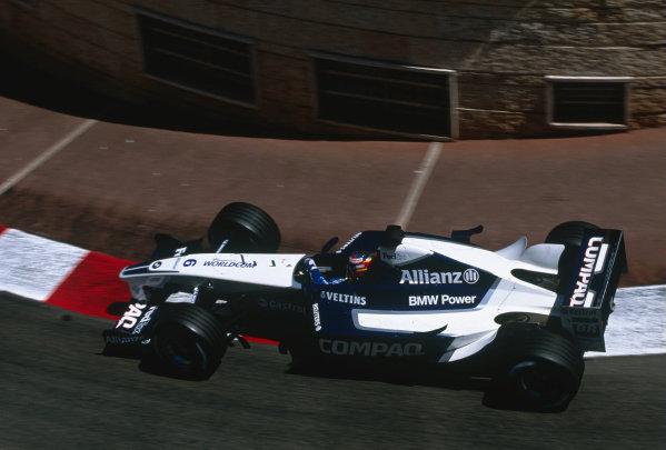 2002 Monaco Grand Prix.Monte Carlo, Monaco. 23-26 May 2002.Juan-Pablo Montoya (Williams FW24 BMW) at Lower Mirabeau.Ref-02 MON 42.World Copyright - Lorenzo Bellanca/LAT Photographic