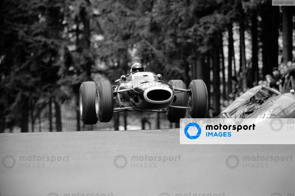 Jackie Stewart, BRM P261, at Brunnchen.