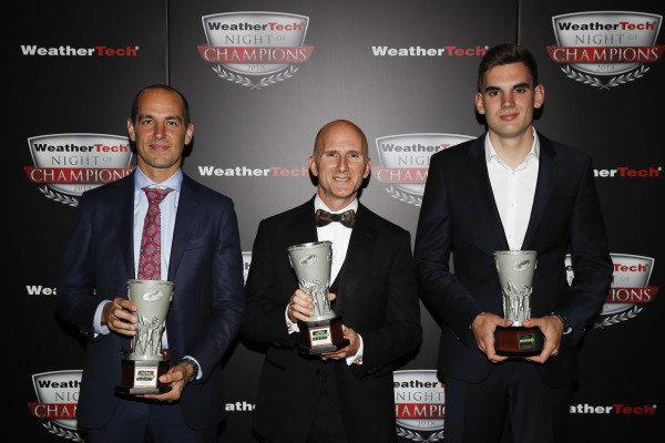 2018 WeatherTech Night of Champions, #33 Riley Motorsports Mercedes AMG GT3, GTD: Jeroen Bleekemolen, Ben Keating, Luca Stolz, TPNAEC