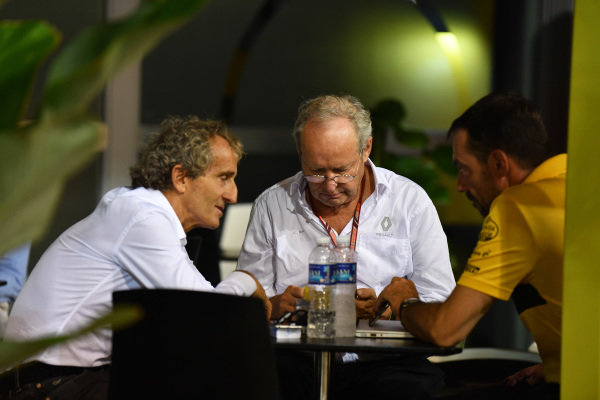 Alain Prost, Renault Sport F1 Team Special Advisor and Jerome Stoll (FRA) Director of Renault Sport F1