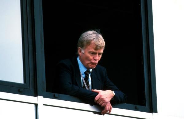 Max Mosley(GBR) President of the FIA looking pensive before the Press conference San Marino GP, Imola, 9 April 2000