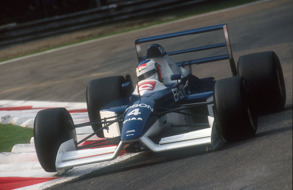 1990 Italian Grand Prix.Monza, Italy.7-9 September 1990.Jean Alesi (Tyrrell 019 Ford). He exited the race after spinning out on lap 4, whilst in third place.Ref-90 ITA 14.World Copyright - LAT Photographic