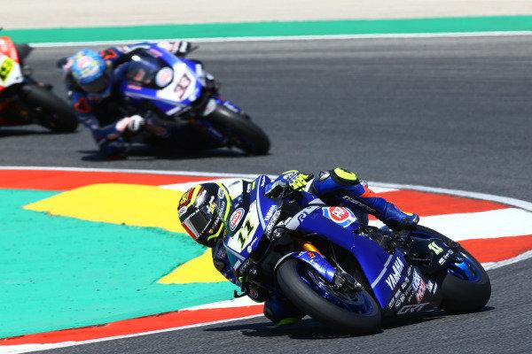 Sandro Cortese, GRT Yamaha WorldSBK, Marco Melandri, GRT Yamaha WorldSBK.
