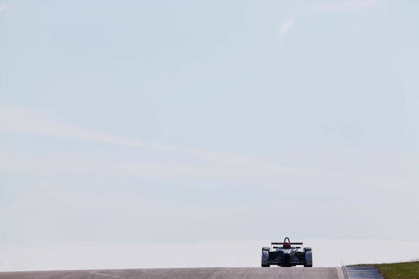 FIA Formula E Test Day, Donington Park, UK.  9th - 10th July 2014.  Franck Montagny, Andretti Autosport. Photo: Sam Bloxham/FIA Formula E ref: Digital Image _SBL9090