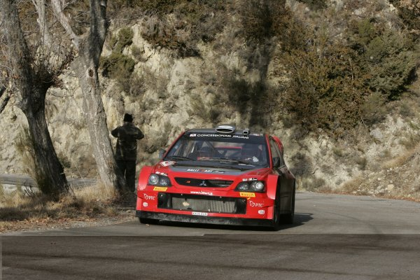 2006 FIA World Rally Champs. Round One, Monte Carlo Rally.19th - 22nd January 2006.Gigi Galli, Mitsubishi, Action.World Copyright: McKlein/LAT