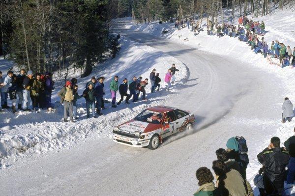 1991 World Rally Championship.Monte Carlo Rally, Monaco. 24-30 January 1991.Carlos Sainz/Luis Moya (Toyota Celica GT-4), 1st position.World Copyright: LAT PhotographicRef: 35mm transparency 91RALLY17