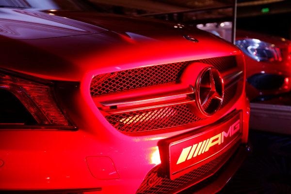 2014 Autosport Awards. Grosvenor House Hotel, Park Lane, London. Sunday 7 December 2014. Mercedes Benz stand. World Copyright: Sam Bloxham/LAT Photographic. ref: Digital Image _14P3467