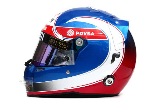 Albert Park, Melbourne, Australia. Helmet of Jolyon Palmer, Test and Reserve Driver, Lotus F1.  Thursday 12 March 2015. World Copyright: LAT Photographic. ref: Digital Image 2015_Helmet_036